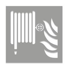 Pochoir Robinet incendie armé - H 600 x L 600 mm
