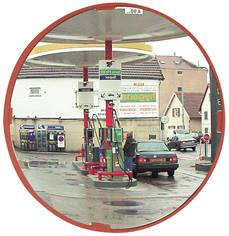 Miroir multi-usage cadre rouge - contrôle 2 directions