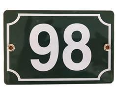 Numéro de maison émaillé - 2 trous - H 100 x L 150 mm