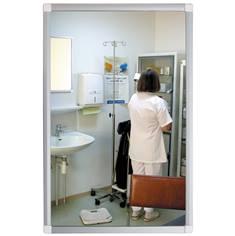 Miroir plat anti-bris de verre pour milieu hospitalier ou pénitentiaire