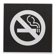Plaque de porte défense de fumer