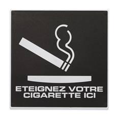 Plaque de porte éteignez votre cigarette ici