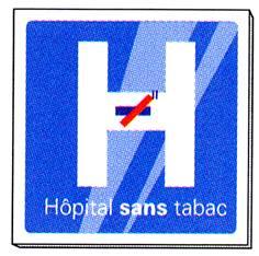 Signalétique Hôpital sans tabac