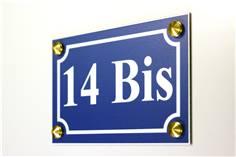 Numéro de maison Alu Dibond - H 100 x L 150 mm