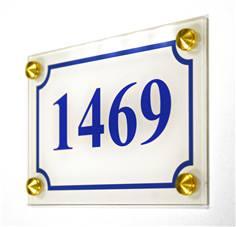 Numéro de maison Plexiglas