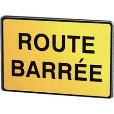 Panneau chantier Route barrée - KC1 21P