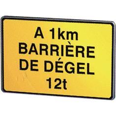 Panneau de chantier Barrière de dégel avec tonnage et distance - KC1 BD