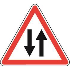 Panneau de danger Circulation dans les 2 sens - A18