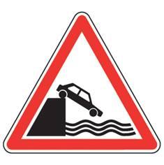 Panneau de danger Débouché sur un quai ou une berge - A20