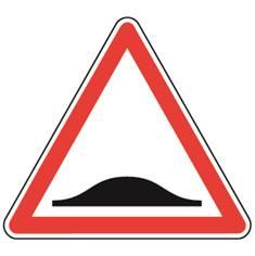Panneau de danger Ralentisseur dos d´âne - A2b