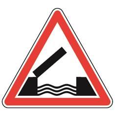 Panneau de danger Pont mobile - A6