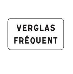 Panonceau Verglas Fréquent - M9z ex6 pour panneau d´interdiction type B