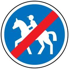 Panneau fin de chemin obligatoire pour cavaliers - B42