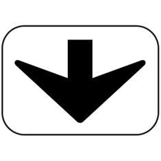 Panonceau Flèche vers le bas - M3d pour panneaux routiers
