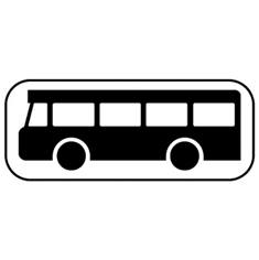 Panonceau Transports en commun - M4b pour panneaux routiers