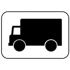 Panonceau Transport de marchandises - M4g pour panneaux routiers