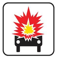Panonceau Transport de Marchandises Explosives - M4k