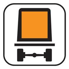 Panonceau Transports de marchandises dangereuses - M4m pour panneau d´interdiction type B