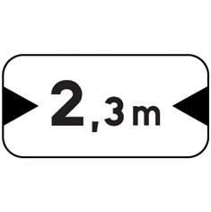 Panonceau Largeur - M4u pour panneau routiers