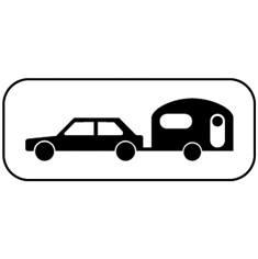 Panonceau Caravane ou remorque - M4x pour panneaux routiers