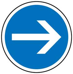 Panneau Direction obligatoire vers la droite - B21-1