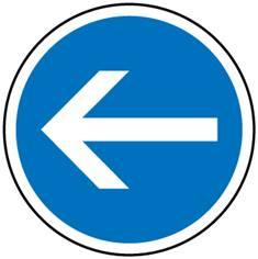 Panneau d´obligation de tourner à gauche - B21-2
