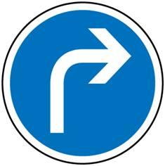 Panneau Direction obligatoire à droite - B21c1