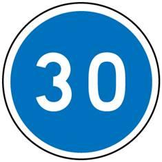 Panneau Vitesse minimale obligatoire - B25