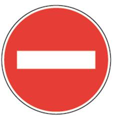 Panneau de prescription - Sens interdit sur Pied solidaire - BK1