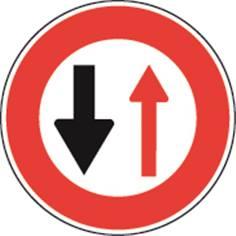 Panneau Temporaire Circulation alternée cedez le passage sur Pied solidaire - BK15
