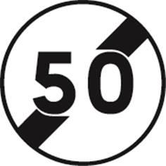 Panneau Temporaire Fin de limitation de vitesse sur Pied solidaire - BK33
