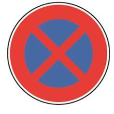Panneau Temporaire Interdiction de s´arrêter sur Pied solidaire - BK6d