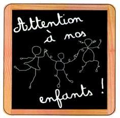 Panneaux Attention à nos enfants - Dessin B