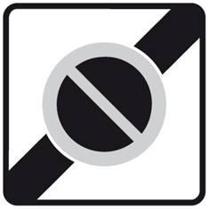 Panneau Sortie de zone à stationnement interdit - B50a