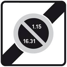 Panneau Sortie de zone à stationnement unilatéral - B50b