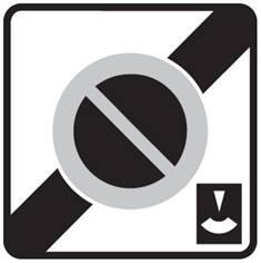 Panneau Sortie de zone de stationnement à durée limitée - B50c