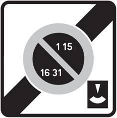 Panneau de stationnement B50e