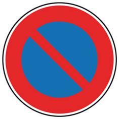 Panneau de stationnement interdit - B6a1
