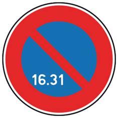 Panneau de stationnement alterné dans le mois - B6a3