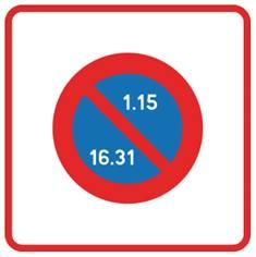 Panneau de stationnement B6b2