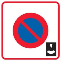 Panneau de stationnement Zone à stationnement de durée limitée - B6b3