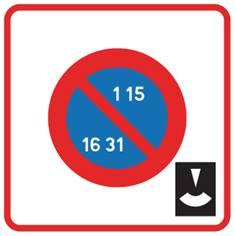Panneau de stationnement interdit dans une zone - B6b5
