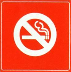 Plaque plexi picto Défense de fumer