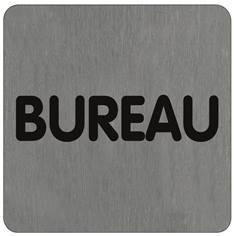 Plaque alu brossé Bureau - 100 x 100 mm