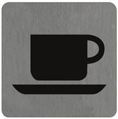 Plaque alu brossé Café - 100 x 100 mm