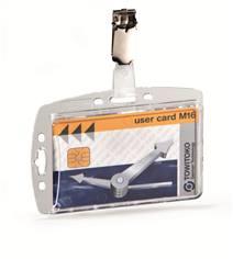 Porte-badge pour carte de sécurité avec clip (lot de 25)