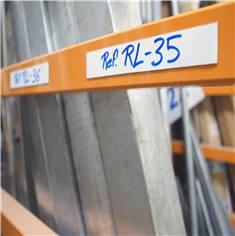 Ruban magnétique avec PVC blanc pour signalisation sur longeron
