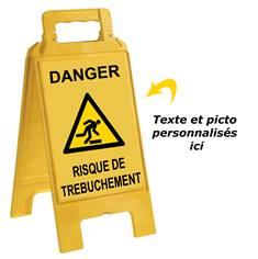 Chevalet de signalisation de danger personnalisé