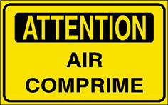 Attention Air comprimé - STF 2910S