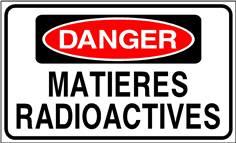 Danger Matières radioactives - STF 3311S